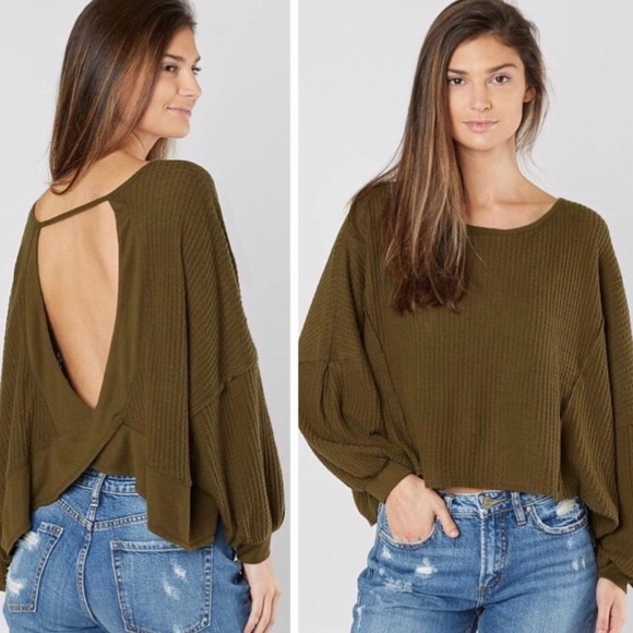 ▪️Free People Olive Love Me-Open Back Thermal